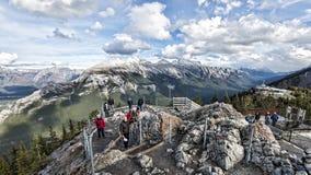 Γόνδολα Banff βουνών Sulfer και κέντρο παρατήρησης Στοκ φωτογραφία με δικαίωμα ελεύθερης χρήσης
