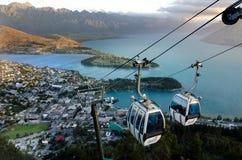 Γόνδολα Queenstown NZ οριζόντων στοκ εικόνα
