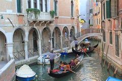 Γόνδολες, Βενετία Στοκ φωτογραφίες με δικαίωμα ελεύθερης χρήσης