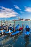 γόνδολες Ιταλία Βενετία Στοκ Φωτογραφίες