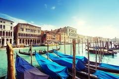 γόνδολες Ιταλία Βενετία Στοκ Εικόνα