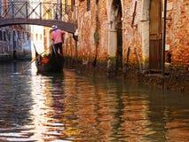 Γόνδολες και κανάλια στη Βενετία, Ιταλία Στοκ Φωτογραφίες