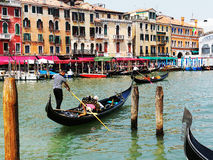 γόνδολες μεγάλη Ιταλία Βενετία καναλιών Στοκ φωτογραφία με δικαίωμα ελεύθερης χρήσης