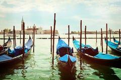Γόνδολες που ελλιμενίζονται στην πλατεία SAN Marco Βενετία στοκ εικόνες με δικαίωμα ελεύθερης χρήσης