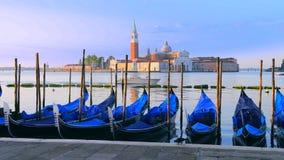 Γόνδολες σε Venezia απόθεμα βίντεο