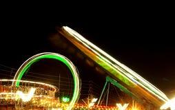 Γύροι διασκέδασης σε ένα ινδικό θεματικό πάρκο Στοκ Φωτογραφίες