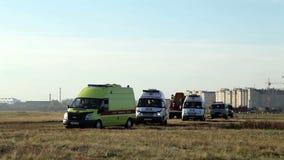 Γύροι ταξιαρχιών ασθενοφόρων στην κλήση φιλμ μικρού μήκους