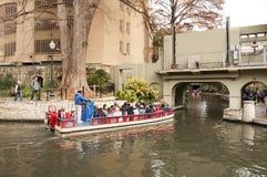 Γύρος βαρκών περιπάτων ποταμών του San Antonio Στοκ Φωτογραφία