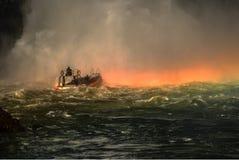 Γύρος βαρκών στον ποταμό Iguazu Στοκ Εικόνες