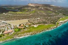 Γύρος ελικοπτέρων - γήπεδο του γκολφ και ακτή του Κουρασάο Santa Barbara Στοκ εικόνες με δικαίωμα ελεύθερης χρήσης