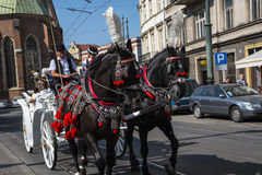 Γύρος μεταφορών γύρω από την πόλη της Κρακοβίας στην Πολωνία Στοκ Εικόνες