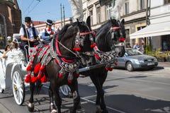 Γύρος μεταφορών γύρω από την πόλη της Κρακοβίας στην Πολωνία Στοκ Εικόνα