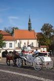 Γύρος μεταφορών μετά από την εκκλησία Αγίου Giles στην Κρακοβία Πολωνία Στοκ Εικόνες