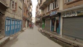 Γύρος μηχανικών δίκυκλων σε Patan, Νεπάλ απόθεμα βίντεο