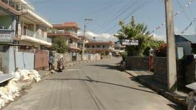 Γύρος μηχανικών δίκυκλων σε Pokhara, Νεπάλ φιλμ μικρού μήκους