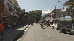 Γύρος μηχανικών δίκυκλων σε Pokhara, Νεπάλ απόθεμα βίντεο