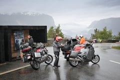 Γύρος μοτοσικλετών της Νορβηγίας Στοκ εικόνες με δικαίωμα ελεύθερης χρήσης