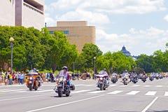 Γύρος μοτοσικλετών βροντής για τους αμερικανικούς στρατιώτες POWs και της MIA Στοκ φωτογραφία με δικαίωμα ελεύθερης χρήσης