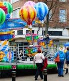 Γύρος μπαλονιών χοίρων Funfair Peppa Stanworths Στοκ Εικόνες