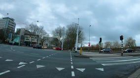 Γύρος ποδηλάτων στο Άμστερνταμ απόθεμα βίντεο