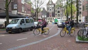Γύρος ποδηλάτων του Άμστερνταμ netherlands απόθεμα βίντεο