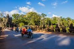 Γύρος ταξί σε Angkor Στοκ Εικόνα