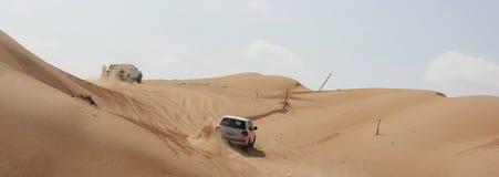 Γύρος τζιπ - άμμοι Wahiba, Ομάν Στοκ Φωτογραφίες