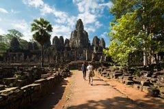 Γύρος τουριστών, Angkor Wat στην Καμπότζη Στοκ Εικόνες