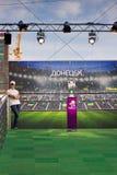 Γύρος τροπαίων UEFA στο Ntone'tsk Στοκ φωτογραφία με δικαίωμα ελεύθερης χρήσης