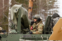 Γύρος Dragoon ΑΜΕΡΙΚΑΝΙΚΟΥ στρατού Στοκ φωτογραφία με δικαίωμα ελεύθερης χρήσης