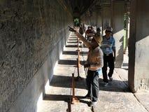 Γύρος Wat Angkor Στοκ εικόνες με δικαίωμα ελεύθερης χρήσης