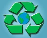 γύρω από την ανακύκλωση του κόσμου σημαδιών Στοκ φωτογραφία με δικαίωμα ελεύθερης χρήσης