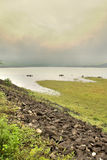 γύρω από τη λίμνη ομορφιάς Στοκ Εικόνες