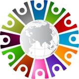 Γύρω από το ανθρώπινο λογότυπο ελεύθερη απεικόνιση δικαιώματος