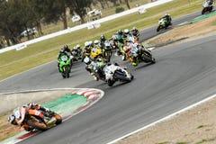 Γύρω από το αυστραλιανό πρωτάθλημα Superbike χρηματοδότησης μηχανών Yamaha 3 - του 2017 Στοκ Εικόνες