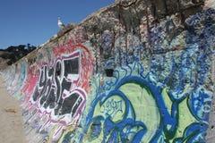 Γλάρος σε έναν χρωματισμένο ψεκασμός τοίχο Στοκ εικόνα με δικαίωμα ελεύθερης χρήσης