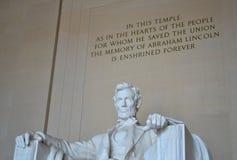 γ δ Λίνκολν αναμνηστικές ΗΠΑ Ουάσιγκτον Γ Στοκ Φωτογραφία