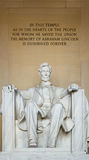 γ δ Λίνκολν αναμνηστική Ουάσιγκτον Γ , ΗΠΑ Στοκ εικόνα με δικαίωμα ελεύθερης χρήσης