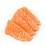 Γλιστρημένο ακατέργαστο Sashimi σολομών Στοκ εικόνα με δικαίωμα ελεύθερης χρήσης
