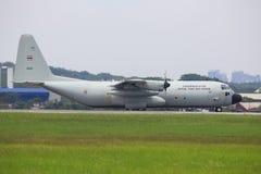 Γ-130 πολεμική αεροπορία Hercules Μαλαισία, szb Στοκ φωτογραφία με δικαίωμα ελεύθερης χρήσης