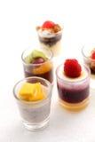 Γλυκά επιδόρπια στο γυαλί Στοκ φωτογραφία με δικαίωμα ελεύθερης χρήσης