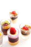 Γλυκά επιδόρπια στο γυαλί Στοκ Φωτογραφία