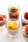 Γλυκά επιδόρπια στο γυαλί Στοκ Εικόνες