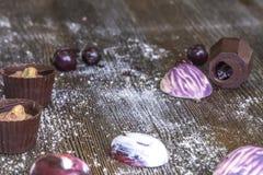 Γλυκά και marshmallows σοκολάτας Στοκ Εικόνες