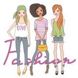 Γλυκά κορίτσια μόδας Στοκ εικόνες με δικαίωμα ελεύθερης χρήσης