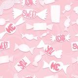 Γλυκά με την αγάπη ords Άνευ ραφής ανασκόπηση Στοκ φωτογραφία με δικαίωμα ελεύθερης χρήσης