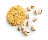 Γλυκά μπισκότα και καρύδια φυστικιών Στοκ Φωτογραφία