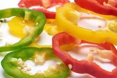 Γλυκά πιπέρια φετών στοκ φωτογραφίες