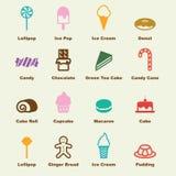 Γλυκά στοιχεία απεικόνιση αποθεμάτων