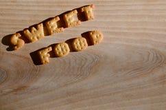 Γλυκά τρόφιμα Εδώδιμες επιστολές Στοκ Εικόνα
